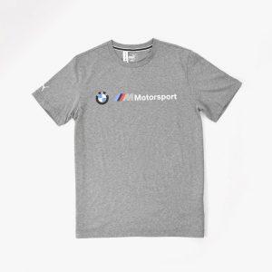 ביגוד פומה לגברים PUMA BMW MMS Logo Tee - אפור