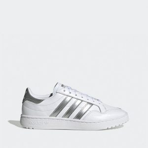 נעליים Adidas Originals לנשים Adidas Originals Team Court - לבן/כסף