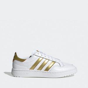 נעליים Adidas Originals לנשים Adidas Originals Team Court - לבן/צהוב