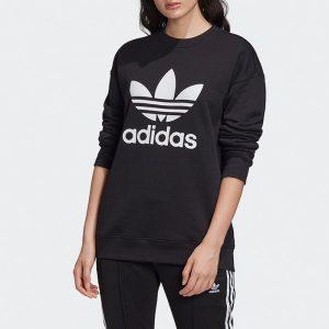 סווטשירט אדידס לנשים Adidas Originals Trefoil Crew Sweat - שחור