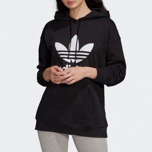 ביגוד Adidas Originals לנשים Adidas Originals Trefoil Hoodie - שחור