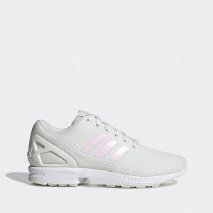 נעליים Adidas Originals לנשים Adidas Originals ZX FLUX K  - לבן/ורוד