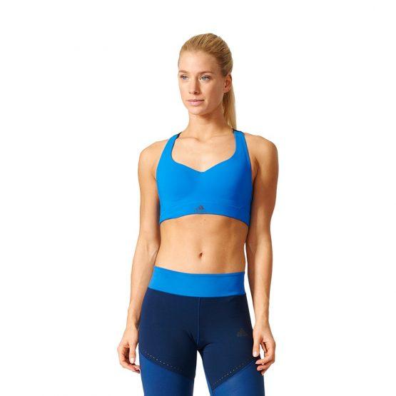 ביגוד אדידס לנשים Adidas Top  Committed Chill Bra  - כחול