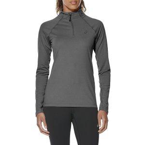 ביגוד אסיקס לנשים Asics LS 1/2 Zip Jersey - אפור