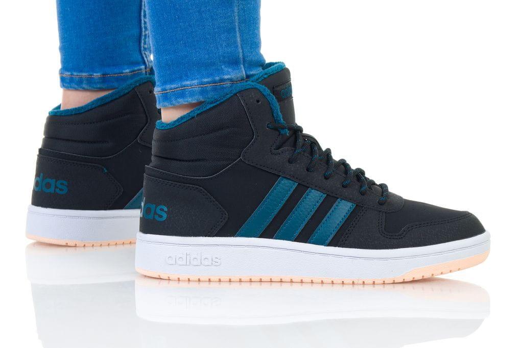 נעליים אדידס לנשים Adidas HOOPS MID 2 - שחור/כחול