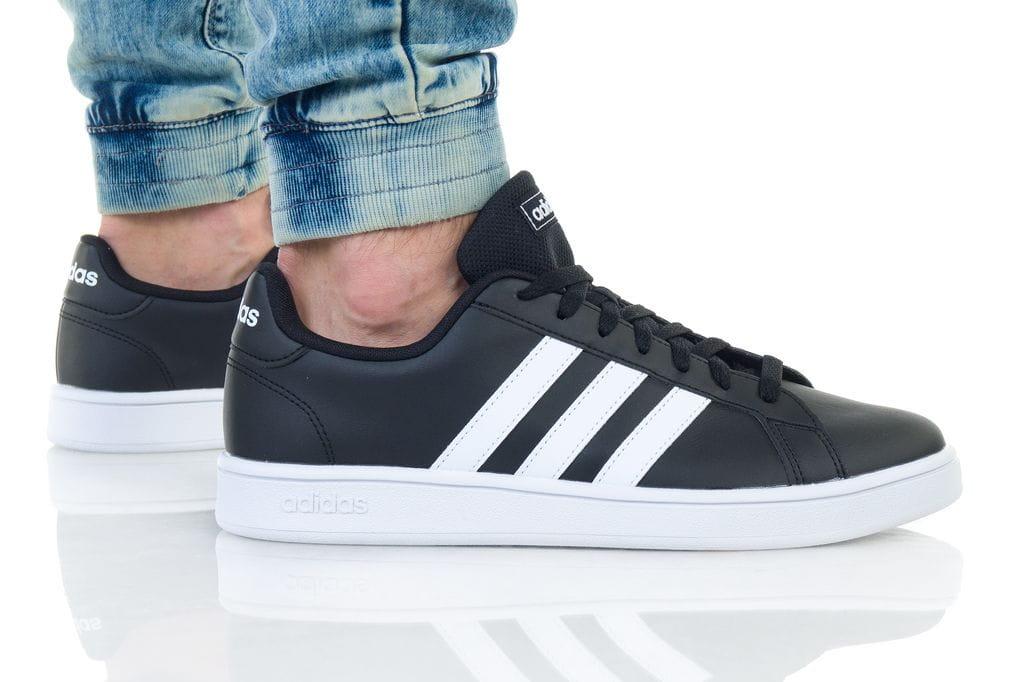 נעליים אדידס לגברים Adidas Grand Court - שחור/לבן