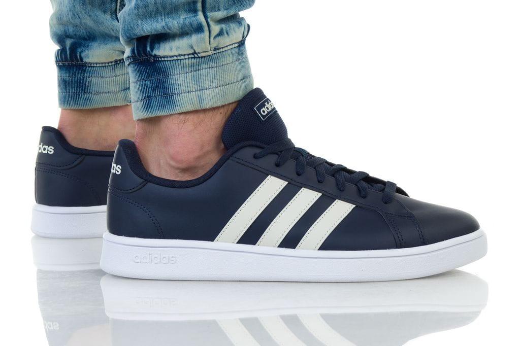 נעליים אדידס לגברים Adidas Grand Court - כחול כהה