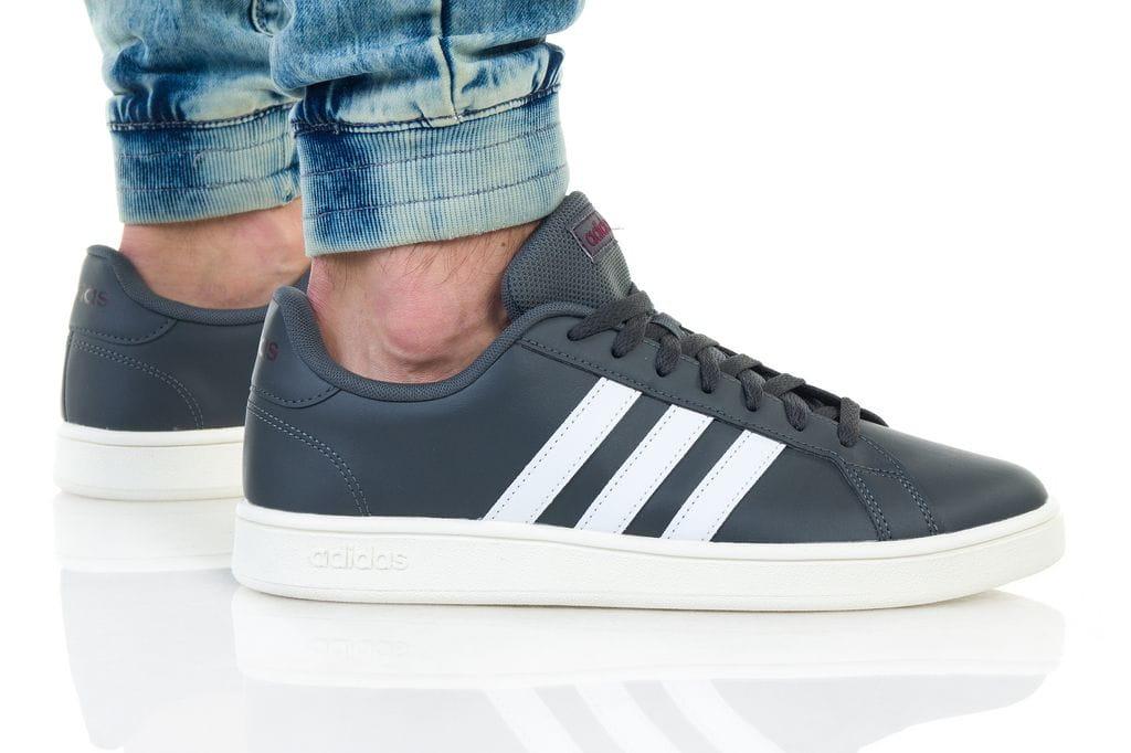 נעליים אדידס לגברים Adidas Grand Court - אפור כהה