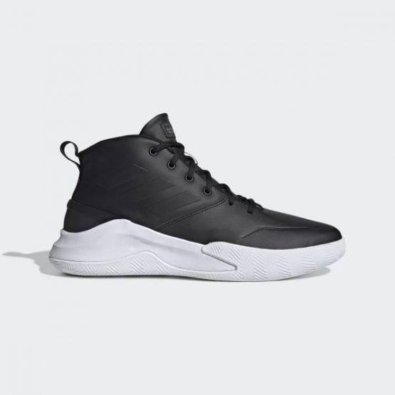 נעליים אדידס לגברים Adidas OWNTHEGAME - שחור/לבן