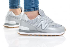 נעליים ניו באלאנס לנשים New Balance WL574 - לבן/כסף