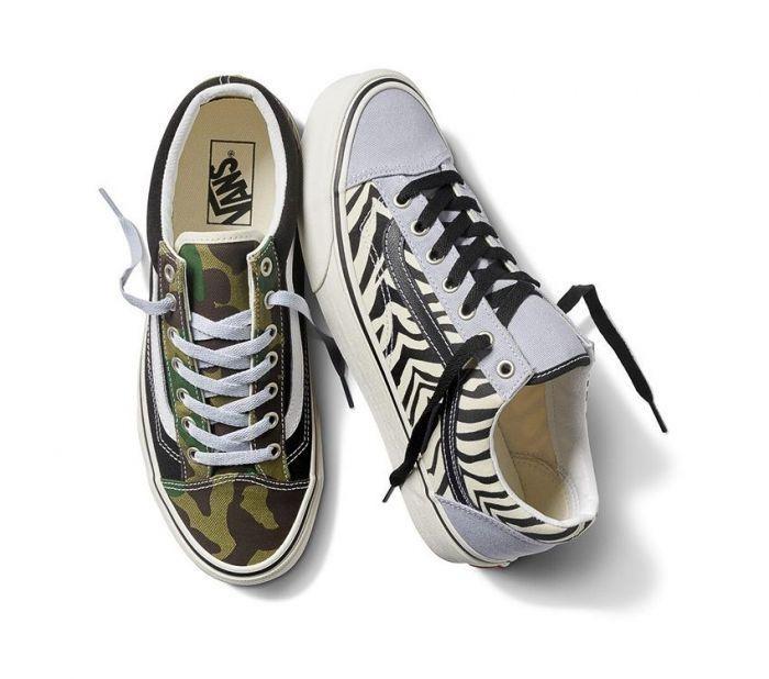 נעליים ואנס לגברים Vans Style 36 - צבעוני כהה