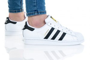 נעלי סניקרס אדידס לנשים Adidas Originals Superstar 2.0 J - שחור/לבן