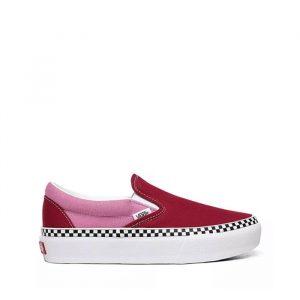 נעליים ואנס לנשים Vans Classic Slip On Platform - אדום