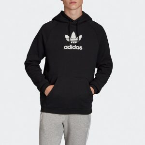 ביגוד אדידס לגברים Adidas Adicolor PRM Hoody - שחור