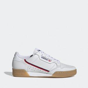 נעלי סניקרס אדידס לגברים Adidas Continental 80 - חום/לבן