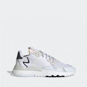 נעליים אדידס לגברים Adidas Nite Jogger - לבן/שחור