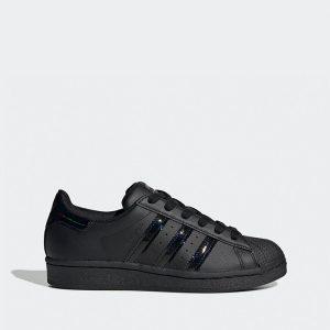 נעליים אדידס לנשים Adidas Originals Superstar - שחור מלא