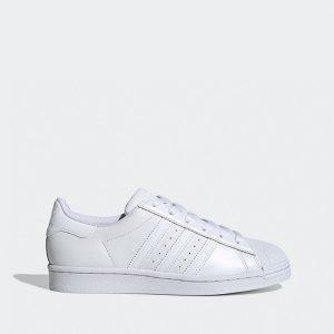 נעליים אדידס לנשים Adidas Originals Superstar - לבן מלא