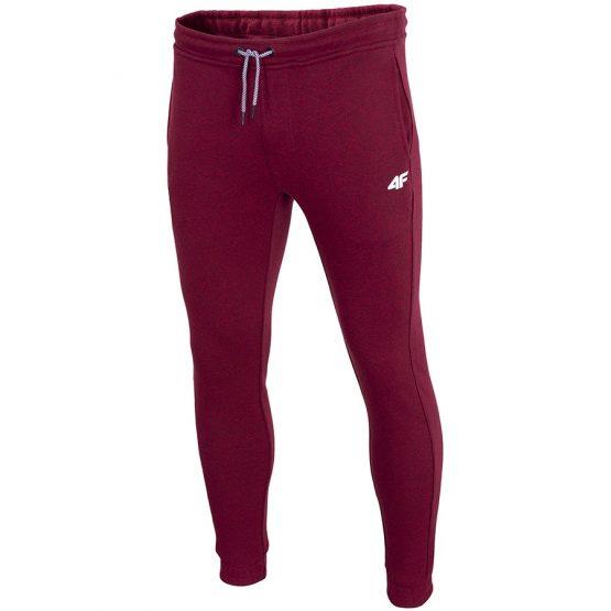 מכנסיים ארוכים פור אף לגברים 4F H4Z19 - אדום