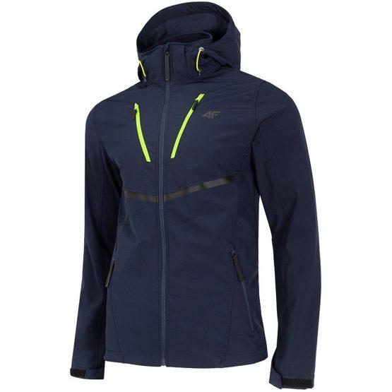 ג'קט ומעיל פור אף לגברים 4F Softshell - כחול כהה