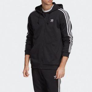 ביגוד Adidas Originals לגברים Adidas Originals 3-Stripes Hoodie - שחור