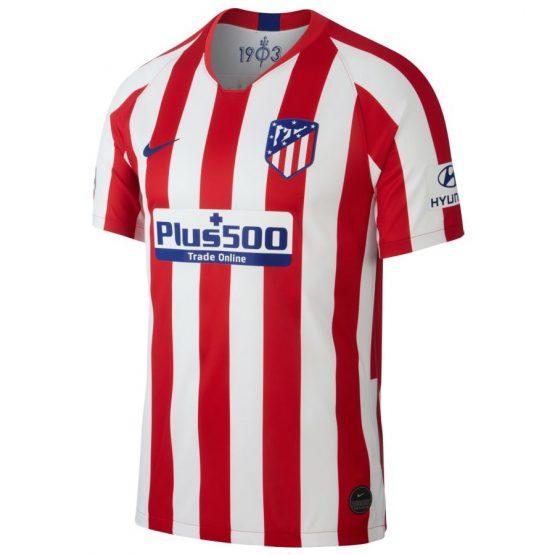 ביגוד קבוצות נייק לגברים Nike Atletico Madrid Home - לבן/אדום