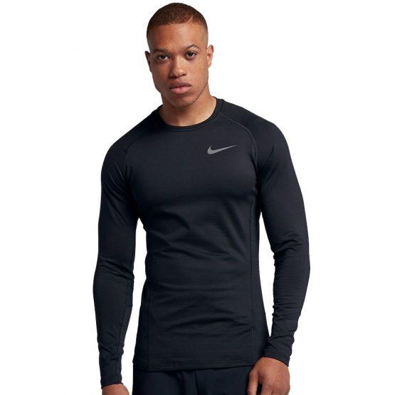 ביגוד נייק לגברים Nike Therma Top LS - שחור