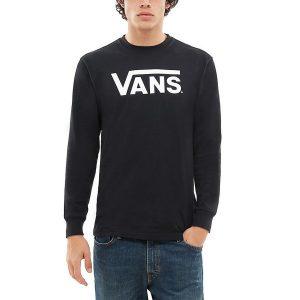 ביגוד ואנס לגברים Vans Classic Longsleeve - שחור