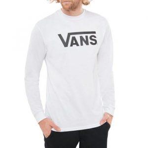 ביגוד ואנס לגברים Vans Classic Longsleeve - לבן