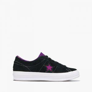 נעליים קונברס לגברים Converse One Star Suede Seasonal Colors OX Twisted Classic - שחור/סגול