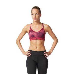 ביגוד אדידס לנשים Adidas Strappy Print Bra - אדום