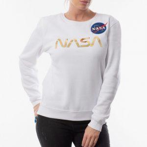 ביגוד אלפא אינדסטריז לנשים Alpha Industries NASA PM - לבן