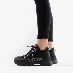 נעליים מוסקינו לנשים MOSCHINO Laminated Trekking - שחור