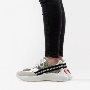 נעלי סניקרס מוסקינו לנשים MOSCHINO Scarpad Running 60 - אפור