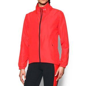 ביגוד אנדר ארמור לנשים Under Armour  International Jacket  - אדום