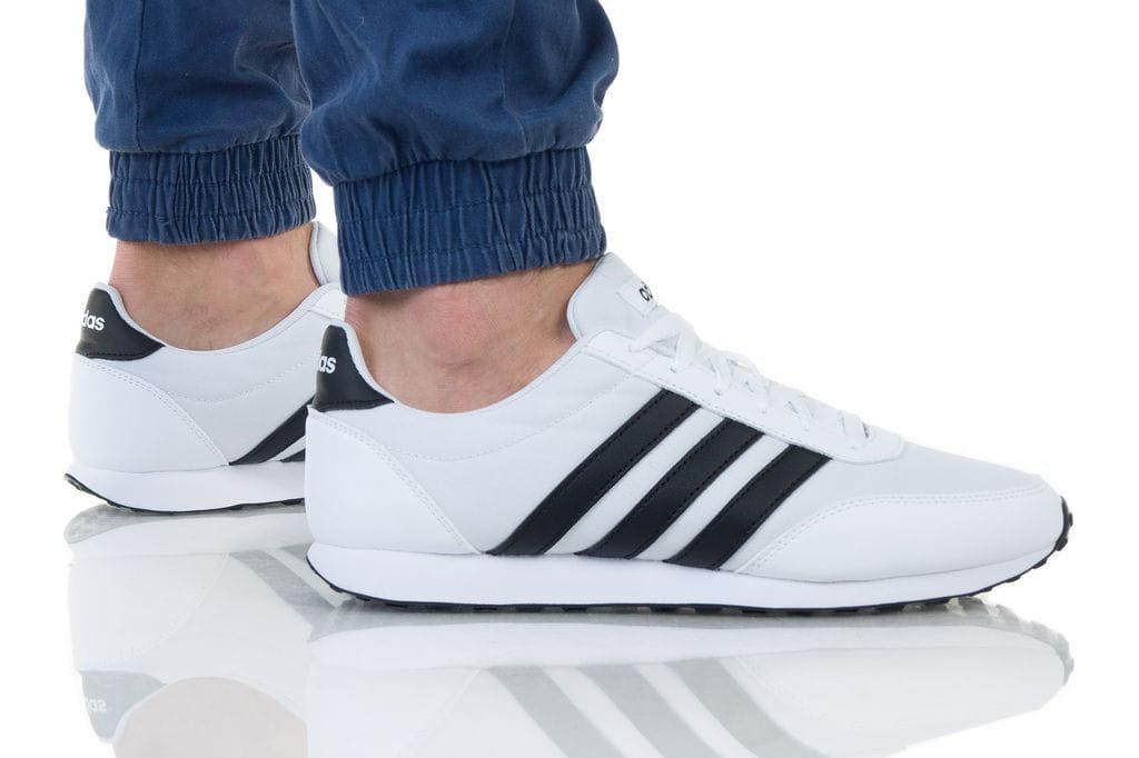 נעליים אדידס לגברים Adidas V RACER 2 - לבן/שחור