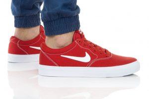 נעלי סניקרס נייק לגברים Nike SB CHARGE SLR - לבן/אדום