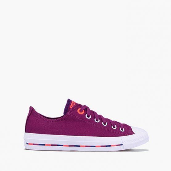 נעלי סניקרס קונברס לנשים Converse CHUCK TAYLOR ALL STAR OX - סגול/לבן/כתום