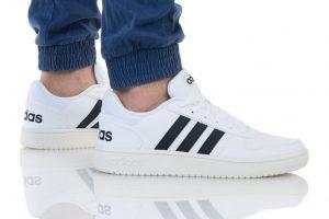 נעליים אדידס לגברים Adidas HOOPS 2 - לבן הדפס