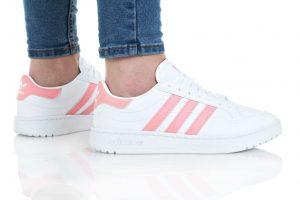 נעליים אדידס לנשים Adidas Team Court - לבן/ורוד
