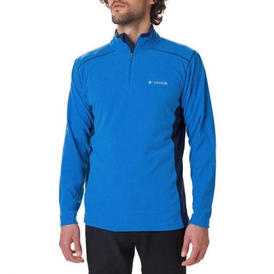 ביגוד קולומביה לגברים Columbia Klamath Range II Half Zip - כחול/שחור