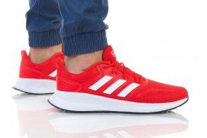 נעליים אדידס לגברים Adidas RUNFALCON - אדום יין