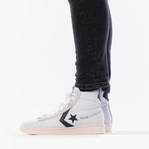 נעליים קונברס לגברים Converse Pro Leather OG Mid - לבן