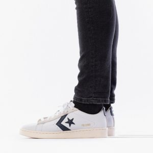 נעליים קונברס לגברים Converse Pro Leather OG OX - לבן