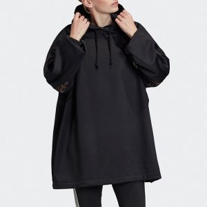 ביגוד אדידס לנשים Adidas Lace Hoodie - שחור