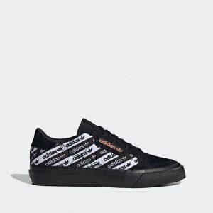 נעלי סניקרס אדידס לגברים Adidas Originals Continental Vulc - שחור/לבן