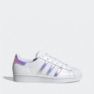 נעליים אדידס לנשים Adidas Originals Superstar 2.0 J - לבן/סגול