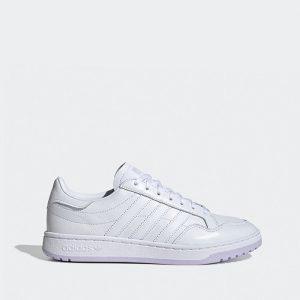 נעליים אדידס לנשים Adidas Team Court - לבן/סגול
