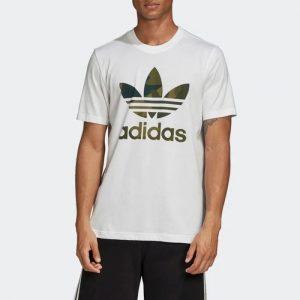 ביגוד Adidas Originals לגברים Adidas Originals Camo Infill Tee - לבן