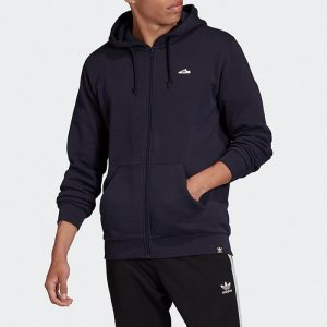 ביגוד Adidas Originals לגברים Adidas Originals Embroidered Zip Hoodie Superstar - שחור